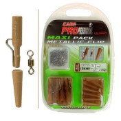 Набор безопасных клипс Fun Fishing Maxi Pack Metallic Clip Mud — 15 с мет. дужкой