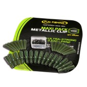 Набор безопасных клипс Fun Fishing Maxi Pack Metallic Clip Weed х15 шт с мет. дужкой