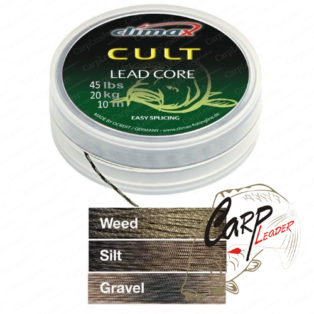 Ледкор Climax Cult Leadcore 10 m, 35 lbs, 15 kg, gravel