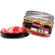 Бойлы плавающие Fun Fishing R & R Fluo Pop Up Face to Face-Rouge/Blanc —12 & 15mm-90 gr