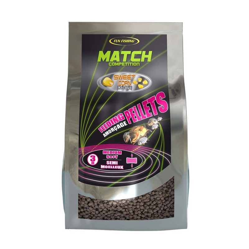 Пеллетс мягкий Fun Fishing Pellets SM Amorcage Sweetcorn 800g 3mm