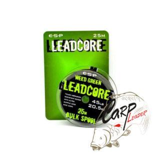 Противозакручиватель ESP Leadcore Bulk Weedy Green 45lb. 25m.