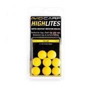 Шарик плавающий Avid Carp High Lites 14mm — Yellow 8 шт