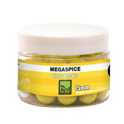 Бойлы плавающие флуор Rod Hutchinson Fluoro Pop Ups Megaspice with Natural Ultimate Spice Blend 15m