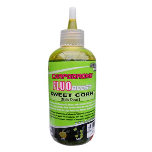 Высокоатрактивный флюро ликвид для прикормки Fun Fishing Fluo Booster — Sweet Corn Mais Doux