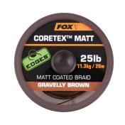 Поводковый материал в оплетке Fox Edges Coretex Matt — Gravelly Brown 25lb — 20m
