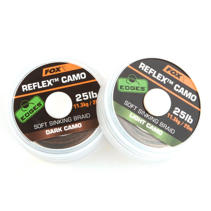 Поводковый материал Fox Edges Reflex Camo — Dark Camo 25lb — 20m