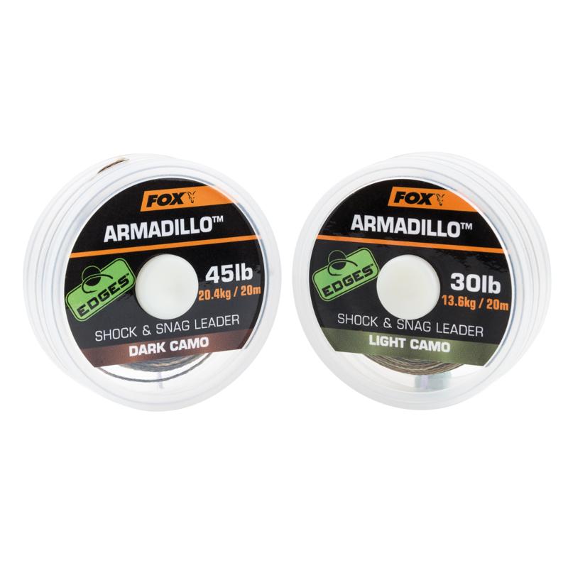 Поводковый материал Fox Edges Armadillo — Light Camo 45lb — 20m шок лидер