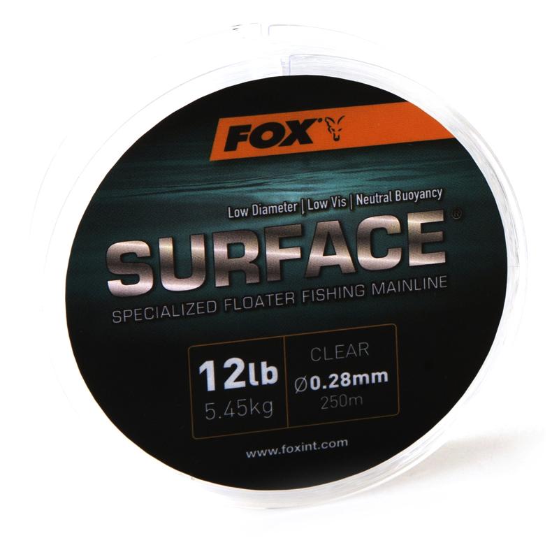 Леска монофильная Fox Surface Floater Mainline — Clear 12lb/0.28mm 250m