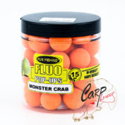 Бойлы плавающие Fun Fishing Fluo Pop Ups — Orange / Monster Crab — 15mm