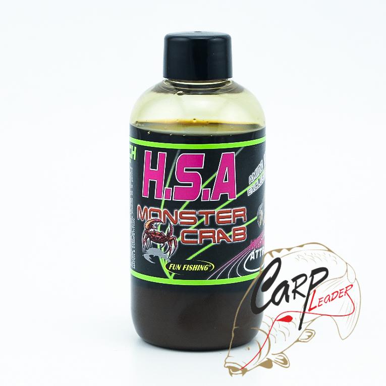 Высокоатрактивный ликвид Fun Fishing 200ml HSA Liquide Monster Crab