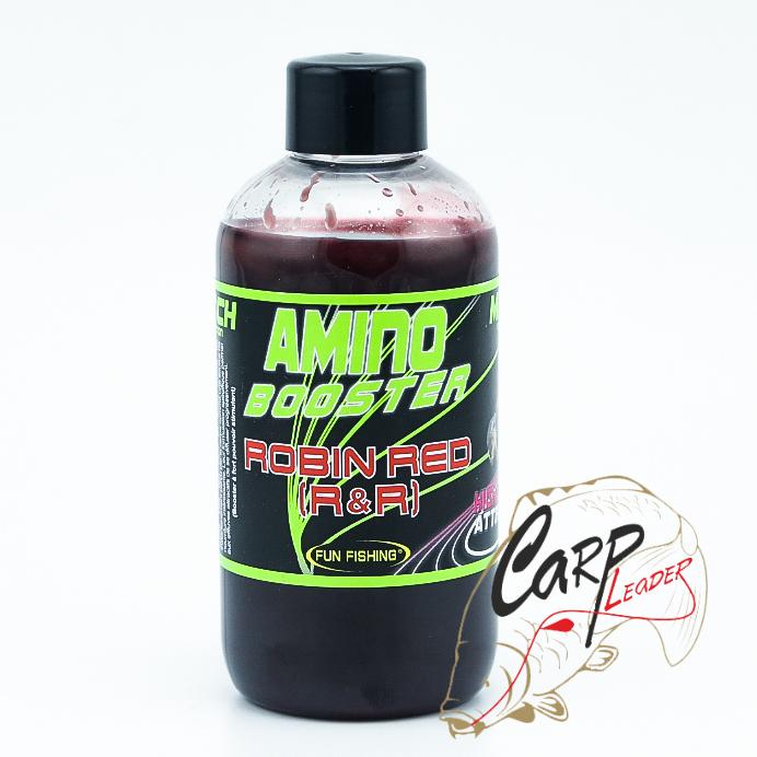 Жидкий аттрактант для прикормки Fun Fishing 200ml Amino Booster — Robin Red