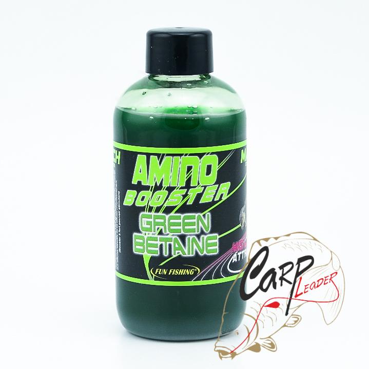 Жидкий аттрактант для прикормки Fun Fishing 200ml Booster PAC Betaine Green
