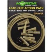 Клипса на трубке Korda Lead Clip Action Pack Gravel