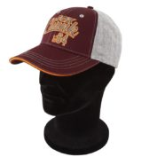 Бейсболка Fox Grey/Burgundy/Orange Baseball Cap