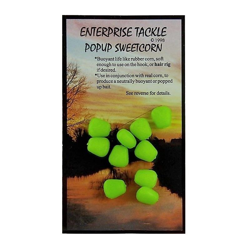 Искусственная плав. кукуруза Enterprise Tackle ET Pop-Up S/C FL Green флюорисцентная