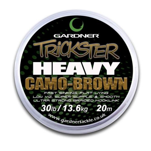 Поводковый материал Gardner Trickster Heavy Camo Brown 25lb