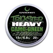 Поводковый материал Gardner Trickster Heavy Camo Green 25lb