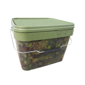 Ведро для прикормки пластиковое Gardner Square Camo Buckets Medium 10 litre