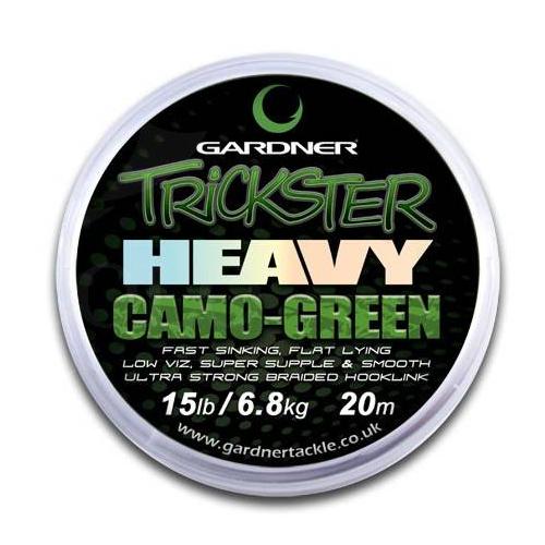 Поводковый материал Gardner Trickster Heavy Green Camo 30lb 13.6kg 20