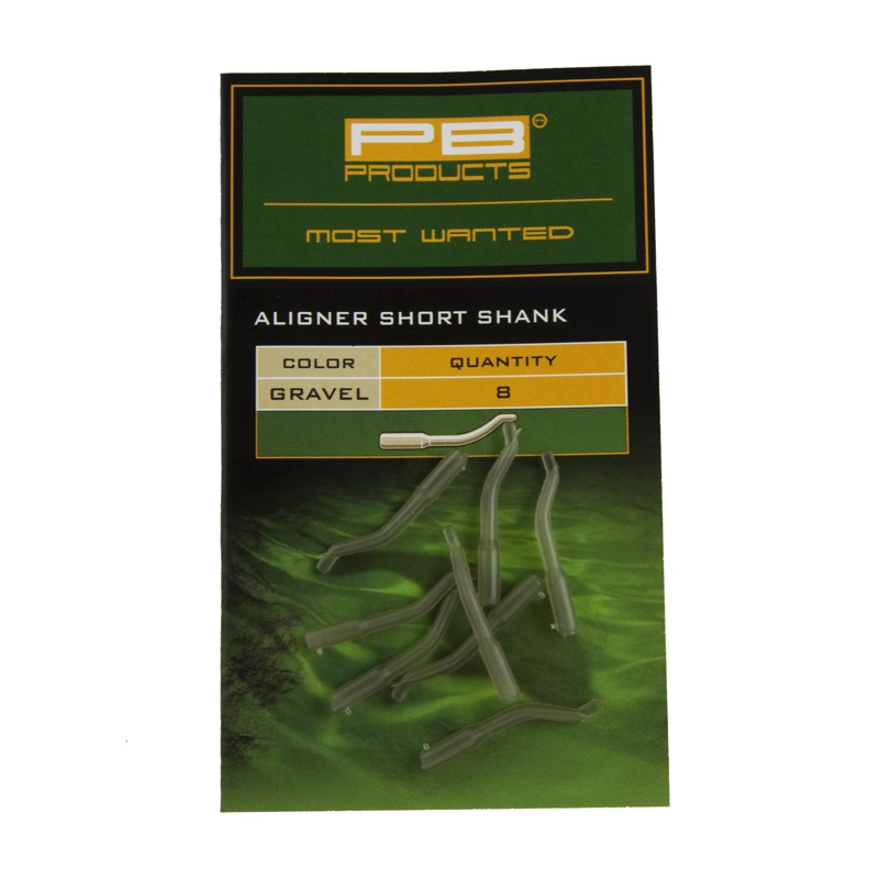 Изогнутая трубка для крючка PB Products Aligners Short Shank Gravel 8шт