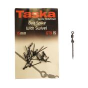 Игла для крепления насадки с микро вертлюжком Taska Bait Spike with Swivel 15mm