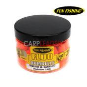 Бойлы плавающие Fun Fishing Fluo Pop Up Dumbells Squid & Garlic Micro 10mm кальмар чеснок