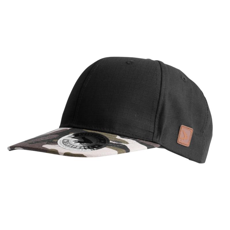 Кепка Avid Carp — Snap Back Cap — Black/Camo Peak