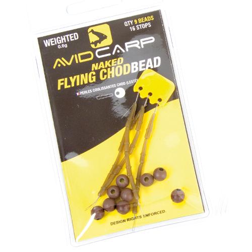 Бусинка с стопором утяжел Avid Carp — Weighted Naked Flying Chodbeads