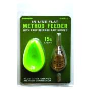 Кормушка фидерная Drennan In-Line Flat Method Feeder & Mould S 15 g с формой для прикормки