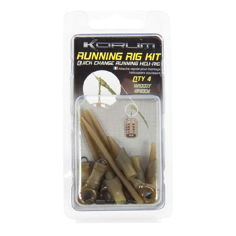 Оснастка фидерная Korum Small Running Rig Kit — Weedy Green