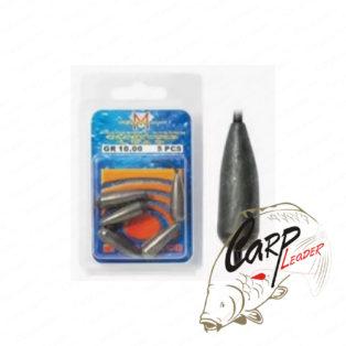 Набор основных скользящих грузил с силиконовым кембриком Trabucco T.M.Torpille 8.00 г 6шт.