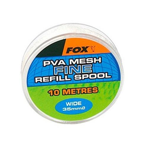 ПВА быстро растворимая сетка запаска Fox Wide 10m/35mm Refill Spool Fine Mesh Mesh PVA
