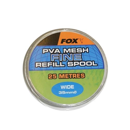 ПВА быстро растворимая сетка запаска Fox Wide 25m/35mm Refill Spool Fine Mesh Mesh PVA