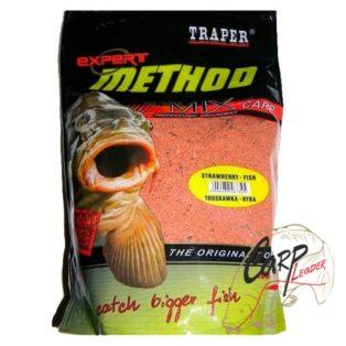 Прикормка Traper 00121_ Method Mix Strawberry-Fish 1кг