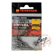 Набор вертлюгов Trabucco Barrel Swivels №06 12шт