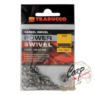 Набор вертлюгов Trabucco Barrel Swivels №08 12шт