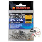 Набор вертлюгов с карабином Trabucco Barrel Saferty №08