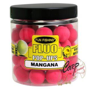 Бойлы плавающие Fun Fishing Fluo Pop Ups -12mm — 60pcs -Rose / Mangana