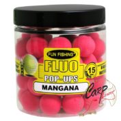 Бойлы плавающие Fun Fishing Fluo Pop Ups -15mm — 60pcs -Rose / Mangana