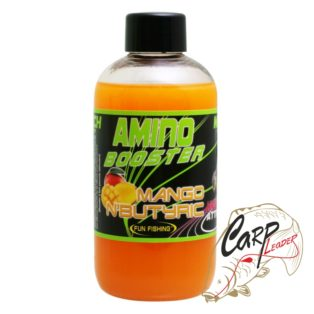 Жидкий аттрактант для прикормки Fun Fishing 200 ml Amino Booster — Mango N Butyric