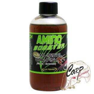 Жидкий аттрактант для прикормки Fun Fishing 200 ml Amino Booster — Mussel Clayfish
