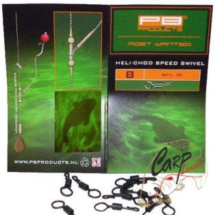 Вертлюг для оснастки Вертолет PB Products Heli-Chod Speed Swivel 8 10шт