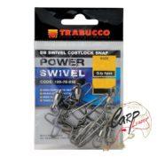 Набор вертлюгов с карабином Trabucco Ball Bearing Swiwels+C.S. №05 55 кг