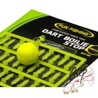 Стопора для быстрой фиксации бойлов Fun Fishing Dart Boilie Stop — Yellow — 60pcs