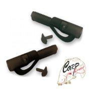 Клипса с фиксатором Carp Zoom safety lead clips with pin matte green