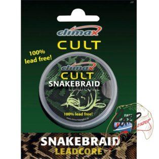 Ледкор без свинца Climax Cult SnakeBraid 40lb 10 m Weed
