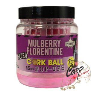 Бойлы плав. Dynamite Baits 15 мм. Mulberry Florentine Fluro Cork Ball