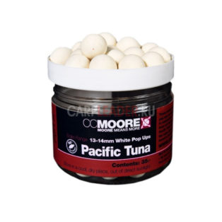 Бойлы плавающие CCMoore Pop Up Pacific Tuna White 13/14 mm на основе тихоокеанского тунца