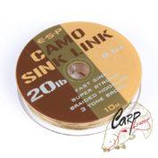 Поводковый материал ESP Camo Sink Link Brown 20lb 10m